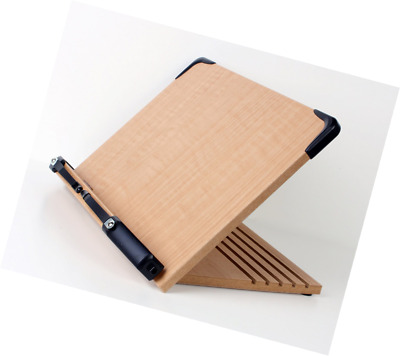 A+ Book Stand BS1500 Book Holder w/ Adjustable Foldable Tray and Page Paper Clip