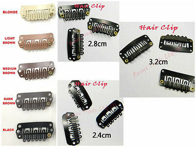 wholesale 3sizes quality hair extensions clips wig clips for toupees hair pieces