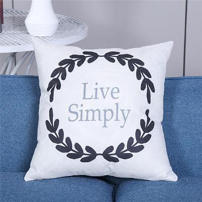 Olive Branch Letter Bed Car Throw Sofa Decor Waist Pillow Case Cushion Cover LH