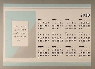 2018 Magnetic Calendar A5 Quote Inspiration for Home or Office Desk