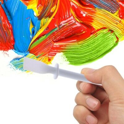 Palette Knife Scraper Spatula Plastic For Mixing Paint  Oil Painting Tools