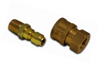 Pack Apache 44048748 Metric Quick Disconnect Pressure Washer Adapter Set 1-