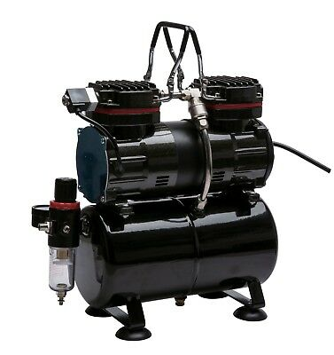 Royal Max Tc-90T Twin Piston On-Demand Airbrush Compressor With 3 Litre Tank