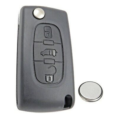 Peugeot Partner Tepee Expert Van 3 Button Remote Key Fob Case Service Kit + Logo