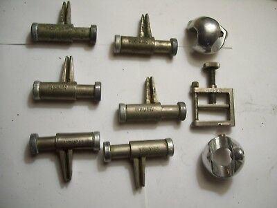 Lot Of 9 Lab Clamps And Holders Fisher Castaloy And Others Some Old Some New.