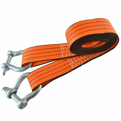 Tow Rope / Towing Road Recovery Strap with Two Shackles 4 Metre 3 Ton SM007