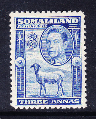 SOMALILAND PROTECTORATE GVl 1938 SG96 3as bright-blue - unmounted mint. Cat £18