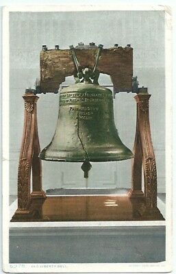 Philadelphia Pa Old Liberty Bell Antique Postcard Pennsylvania Divided Back