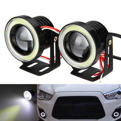 "1Pair 15W 2.5"" Car Auto Angel Eyes Ring Projector LED Fog Driving White Light"