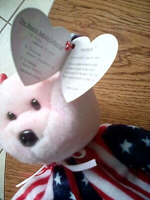 Rare TY Beanie Baby - 1999 Spangle with Pink Face - Retired