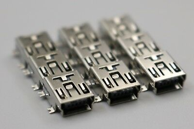 10Pcs Pcs Type B 5-Pin Mini USB Female SMD SMT Socket Solder Jack Connector