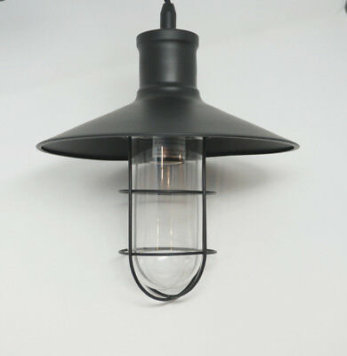 10″ Canopy Oil Rubbed Bronze Black Cage Antique Style Pendant Fixture UL Listed