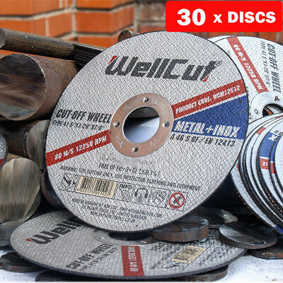 """Metal Cutting Disc Stainless Steel 125mm 5"""" 1.2 mm DGA504, DCG412 Pack of 30"""