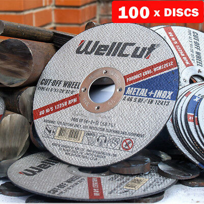 """Metal Cutting Disc Stainless Steel 125mm 5"""" 1.2 mm DGA504, DCG412 Pack of 100"""