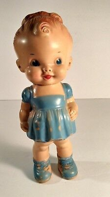 """Vintage 1950's Squeeky Ruth Newton/The Sun Rubber Co Rubber Doll 8 1/2"""""""