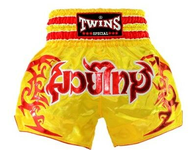Twins Special Muay Thai Boxing Shorts Yellow/Red
