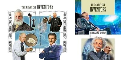 Z08 IMPERF SRL171104ab SIERRA LEONE 2017 The greatest inventors MNH ** Postfrisc