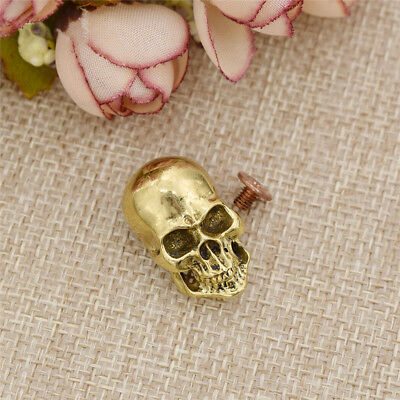 DIY Copper Screwback Leather Crafts Skull Punk Design Making Accessories