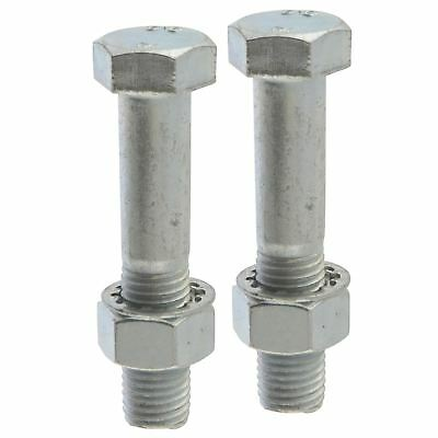 PAIR Tow Bar / Tow Ball Bolts 75mm Long with Nuts & Washers HIGH TENSILE