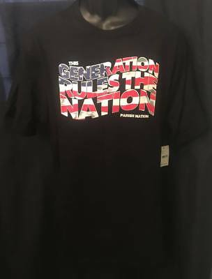 167a46e4 Parish Nation Men's Graphic Tee Shirt New W Tags Size 2Xl Black American  Flag