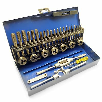 32pc HSS Metric Tap and Die Set M3 - M12 1st 2nd and Plug Finishing TE174
