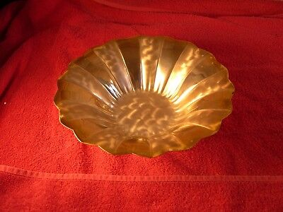 Vintage Wmf Ikora Germany Brass Plated Footed Bowl Candy Dish Decor Two Tone