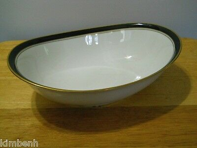 NORITAKE China IVORY & EBONY PATTERN #7274 OVAL VEGETABLE BOWL
