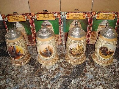 Set of 4 Upland Game Birds Series Budweiser Beer Steins – Free Shipping