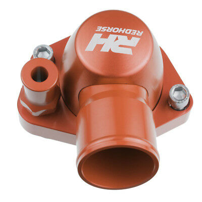 Redhorse Thermostat Housing 4910-302-24-3; 80° ORing Swivel Red Aluminum for SBF