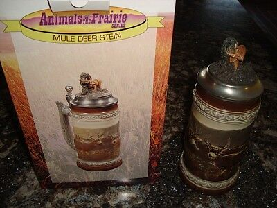 1996 Animals Of The Prairie Mule Deer Stein Anheuser Busch Nib