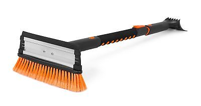 "39"" Extendable SNOW BRUSH With Squeegee & Ice Scraper Foam Grip Home Car Van Use"
