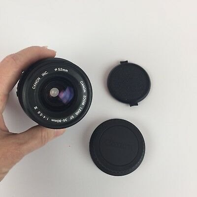Canon EF 35-80mm f/4.0-5.6 III Lens Front/Rear Caps w/Free Canon EOS Rebel Body