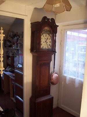 antique grandfather clock  8 day