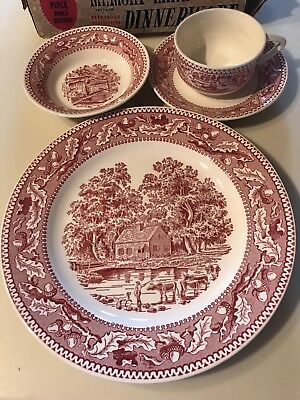 Royal Ironstone Memory Lane 4 Pc Place Setting Plate Cup Saucer And Bowl New!