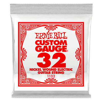 Ernie Ball .032 Nickel Wound Electric Guitar String 1132 single