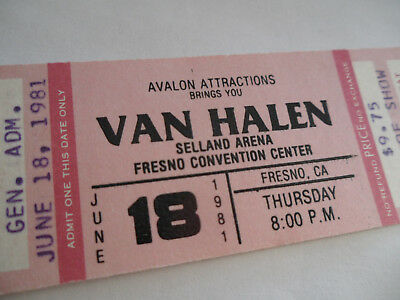 VAN HALEN Original 1981__UNUSED__CONCERT TICKET__Fair Warning Tour