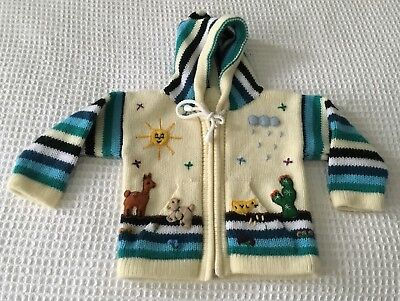 1970'S Original Vintage Little Hoodie Embroidered And Appliquéd