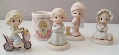 Precious Moments (with boxes) - lot of 4 and mug