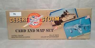 Desert Storm Card and Map Set Weapon Profiles New Unopened