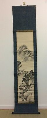 Vintage Japanese kakejiku hanging scroll, mountains, Japan import 200cm (W1837)