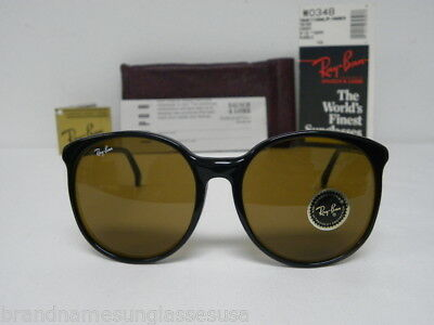 New Vintage B&L Ray Ban Traditionals Trish Ebony B-15 W0348 Round Oversize NOS