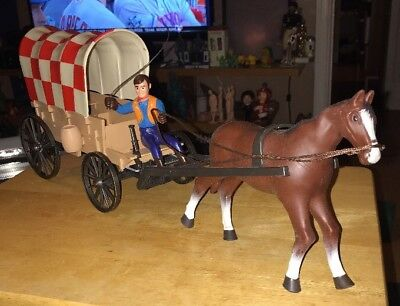 Vintage Purina Dog Chow Puppy Chuck Wagon B/O Toy Horse Advertising 70s