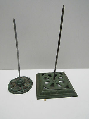 Antique Cast Iron Note Holders  Desk Victorian Eastlake Vintage 1800s Wall x 2