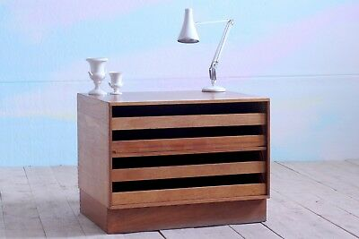 Vintage Retro MidCentury Teak Plan Architects A1 Chest of Drawers Storage