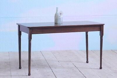 Antique Vintage Victorian Mahogany Writing Desk Console Hall Kitchen Table