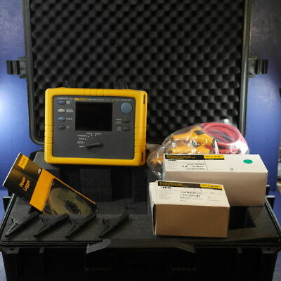 Fluke 1735 Power Logger Analyst, Mint Condition, Hard Case, Accessories