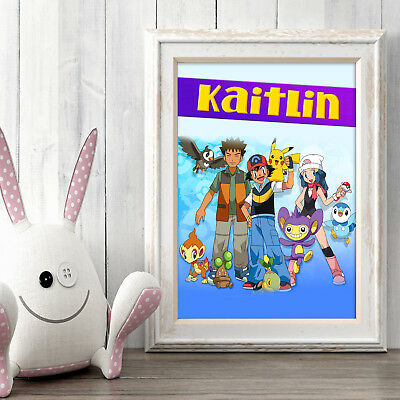 POKEMON Personalised Poster A5 Print Wall Art Custom Name ✔ Fast Delivery ✔