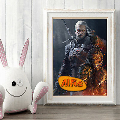 THE WITCHER Personalised Poster A5 Print Wall Art Custom Name ✔ Fast Delivery ✔