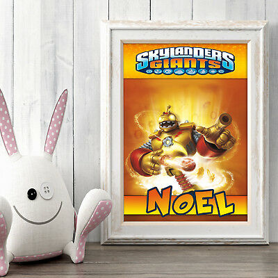 SKYLANDERS Personalised Poster A5 Print Wall Art Custom Name ✔ Fast Delivery ✔