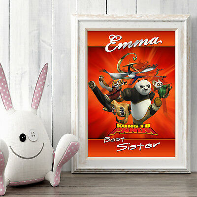 Kung Fu Panda Personalised Poster A5 Print Wall Art Custom Name✔ Fast Delivery✔